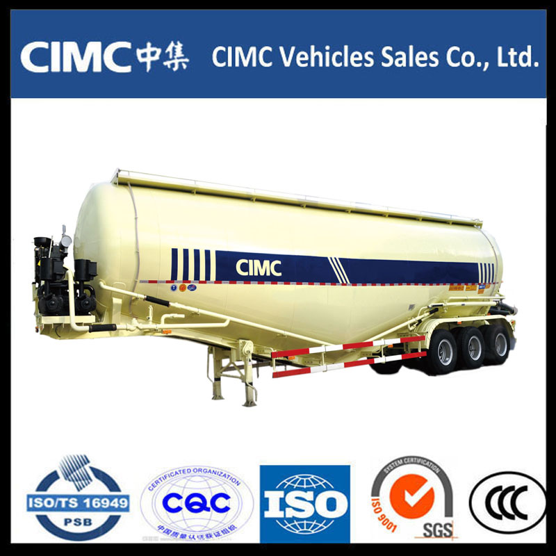 3 Axle Bulk Cement Powder Tank Semi Trailer