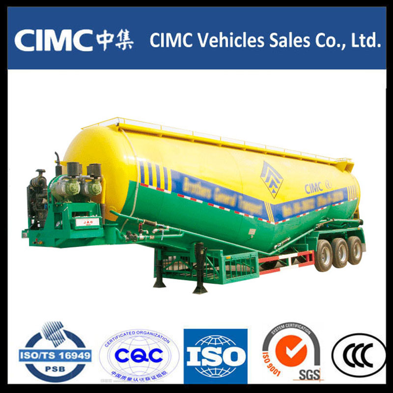 Hot Sale CIMC Bulk Cement Powder Tank Semi Trailer
